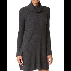 Madewell Gray Turtleneck Dress